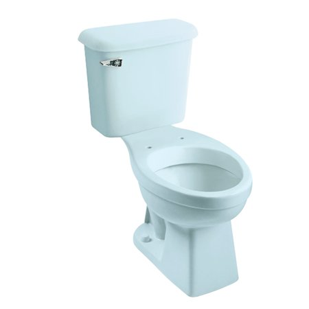 - Peerless Pottery McKinley 7668-12 Vitreous China Elongated Toilet Kit with 12-in Rough in Dresden Blue