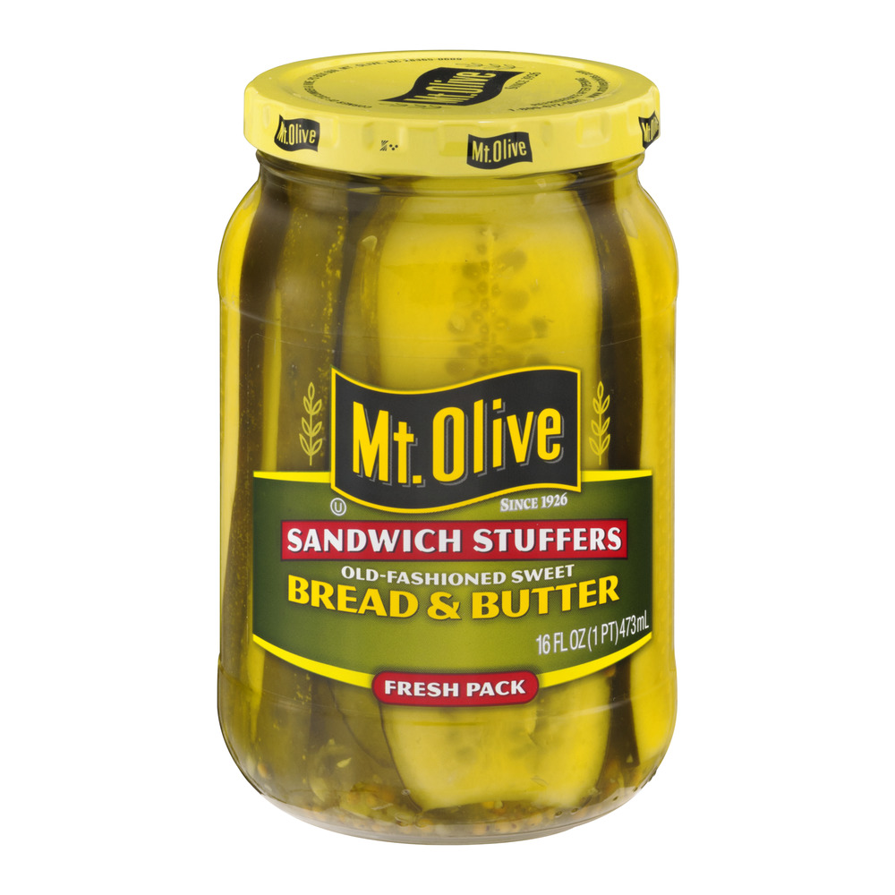 Mt. Olive Bread & Butter Pickles Old-Fashioned Sweet, 16.0 FL OZ