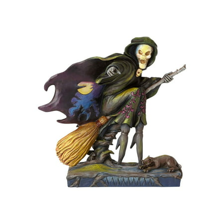 Jim Shore Halloween 4058846 Skeleton Witch Riding Broom 2017