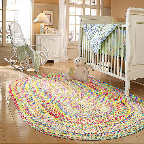 Spring Garden Braided Rug, Yellow Multi