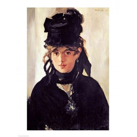 Posterazzi BALXIR36825 Berthe Morisot with A Bouquet of Violets 1872 Poster Print by Edouard Manet - 18 x 24 in. - image 1 of 1