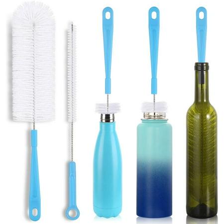 16' Bottle Brush Cleaner for Water Bottle - Long Handle Bottle Brush for Cleaning Thermos Hydro Flask Contigo S'Well Simple Modern Narrow Neck Sport Bottles Kombucha Beer Bottle and Jugs, Set of 2