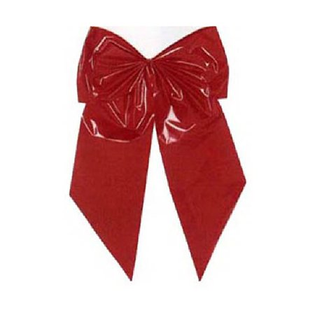 Holiday Trim 7256 Christmas Bow, 2-Loop, Red Poly, 15 x 24 x (Poly Satin Bow)