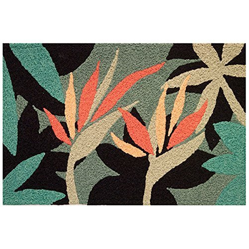 Bird Of Paradise Tropical Flower Garden Area Rug 21 X 33