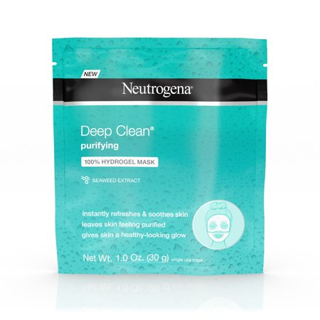 Neutrogena Deep Clean Hydrating 100% Hydrogel Face Mask, 1.0 (Best Hydrating Face Masks In Singapore)