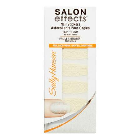 Sally Hansen Salon Effects Real Nail Polish Strips, Thread Lghtly (Halloween Nail Strips)