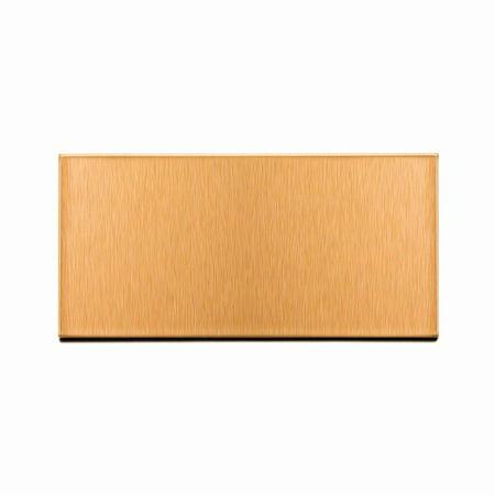 (aspect peel and stick backsplash brushed copper short grain metal tile sample for kitchen and bathrooms (3