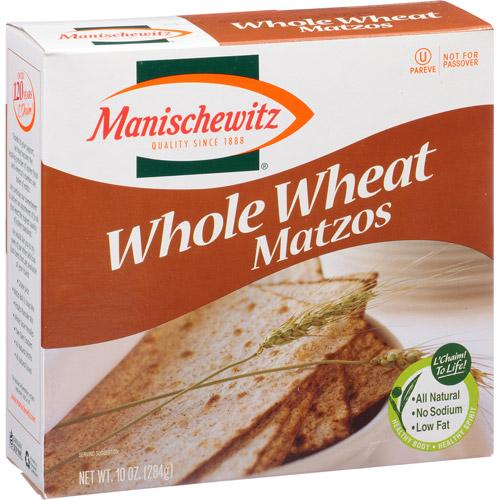 Manischewitz Whole Wheat Matzos, 10 oz, (Pack of 12)