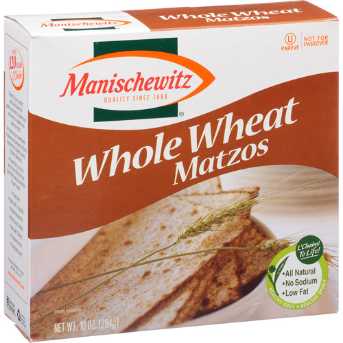 Manischewitz Whole Wheat Matzos, 10 oz, (Pack of 12)