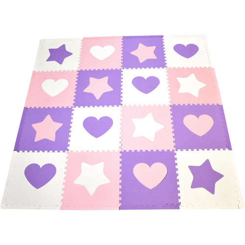 Seed Sprout Hearts and Stars 16pc Playmat Set