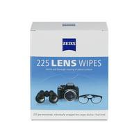 ZEISS Lens Wipes - 225 Pre-Moistened Eyeglass Cleaning Wipes - Dispenser Pack