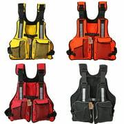 1pc Adult Adjustable Life Jacket Vest Marine Reflective Sailing Kayak Fly Fishing Adjustable Adult Life Jacket Life Saver
