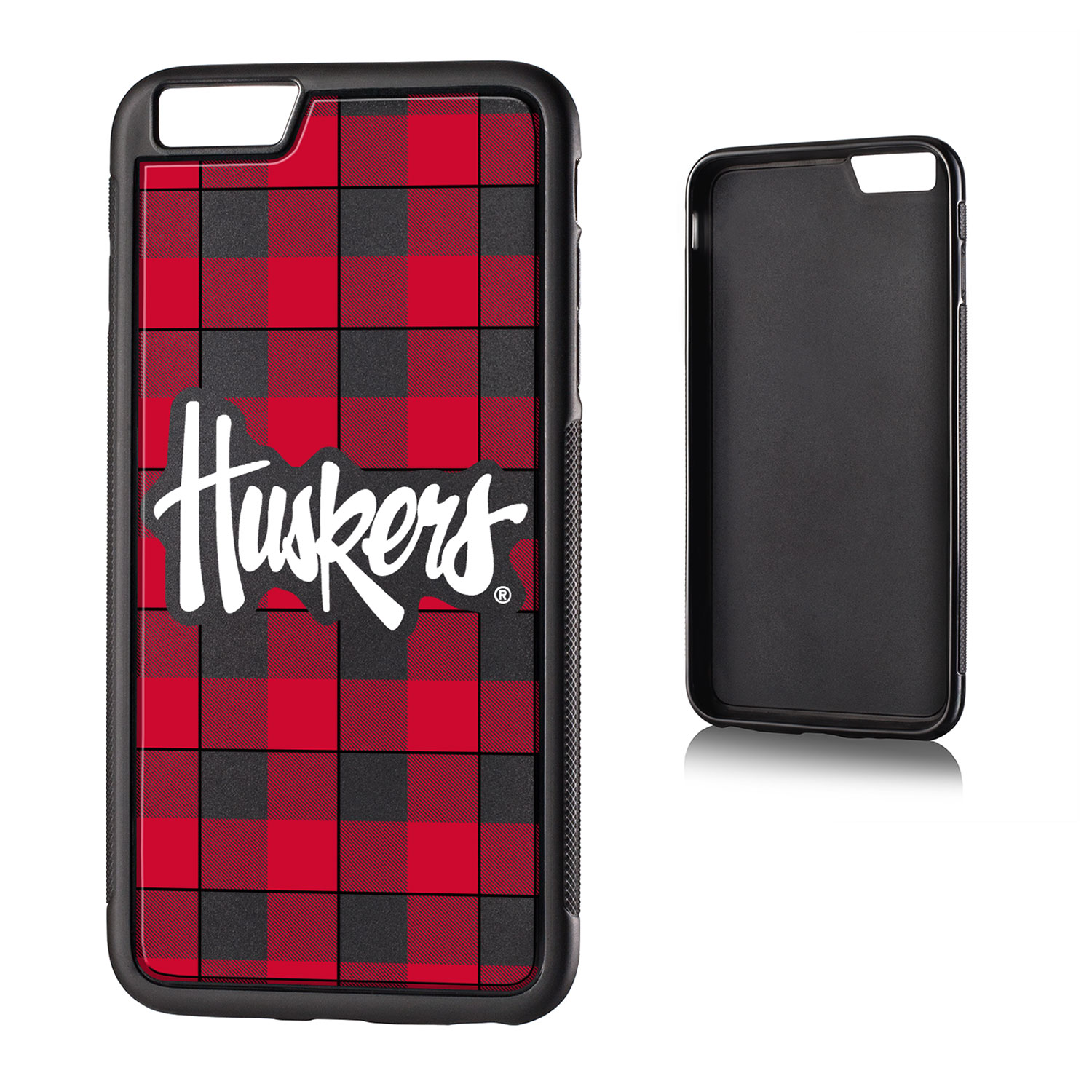 NU Nebraska Huskers Plaid Bump Case for iPhone 6 Plus