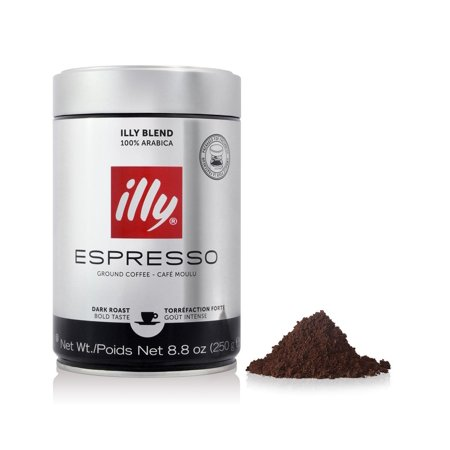 illy Ground Espresso Dark Roast Coffee, 8.8 -