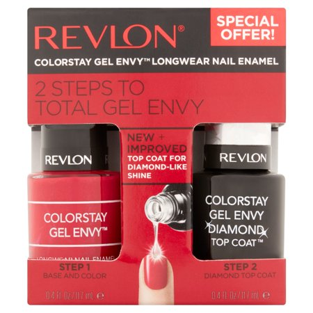 Revlon ColorStay Gel Envy Longwear Vernis à ongles, 0,4 fl oz, 2 count