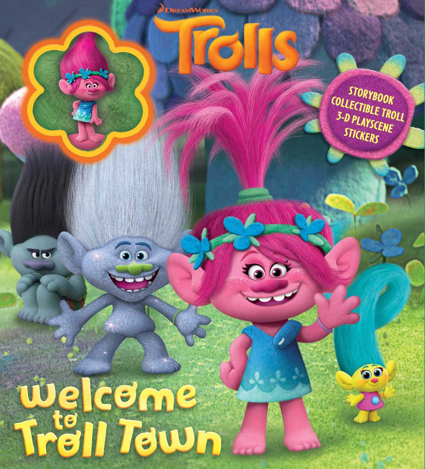 dreamworks trolls welcome to troll town storybook with poppy