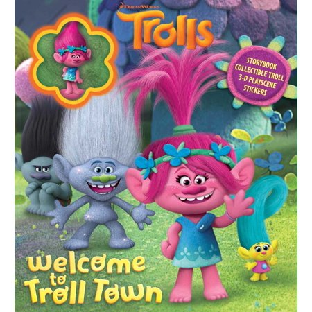 Batman Collectible And Comic Books (DreamWorks Trolls: Welcome to Troll Town : Storybook with Poppy Collectible )