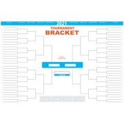 2021 March Madness College Basketball Tournament 64-team bracket dry erase poster 24x36