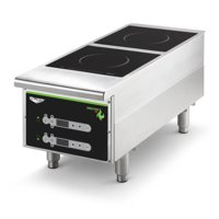 "Vollrath 912HIDC 12"" Countertop Heavy-Duty Induction Hotplate - 2 Hob"
