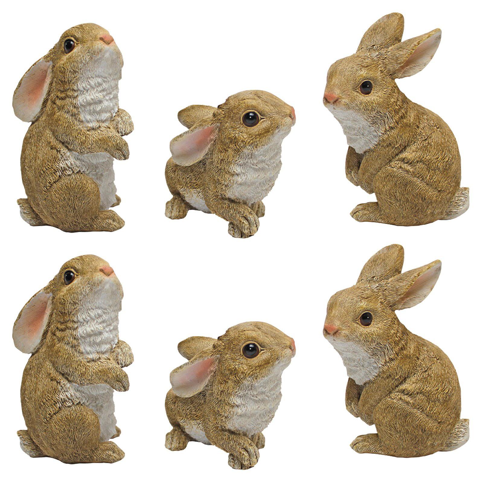 Design Toscano The Bunny Den Rabbit Garden Statue - Set of 6