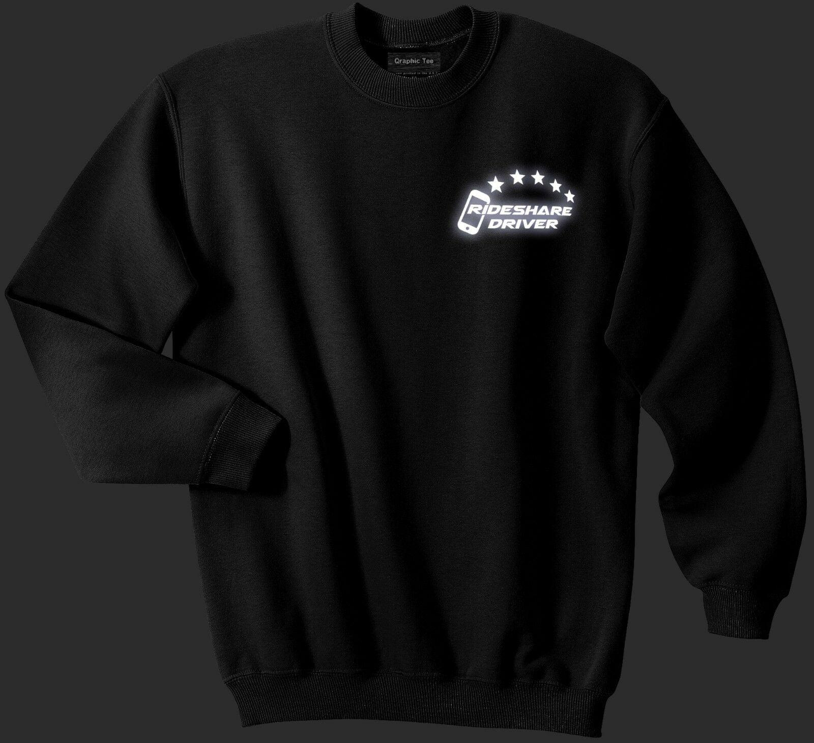 UBER logo Hoodie driver Rideshare App Black Hooded Pull Over Sweatshirt S-5XL