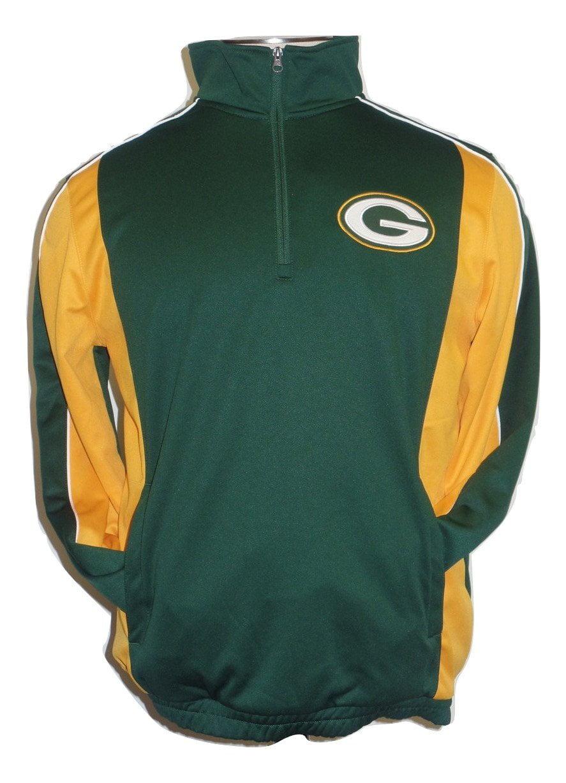 Green Bay Packers Hands High Quarter Zip Performance Fleece Jacket by G-III Sports