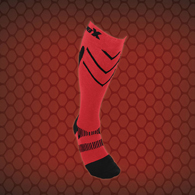 CSX X200 Athletic Compression Sock-15-20 mmHg-Black/Red-Medium