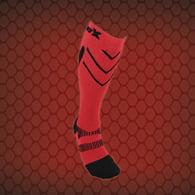 CSX X200 Athletic Compression Sock-15-20 mmHg-Black/Red-Medium
