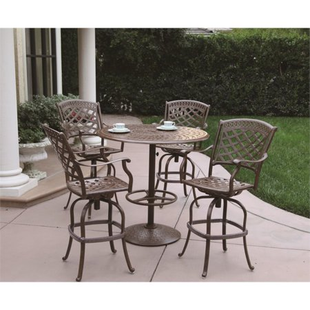 Darlee Sedona 5 Piece Patio Pub Set With Seat Cushion Walmart Com