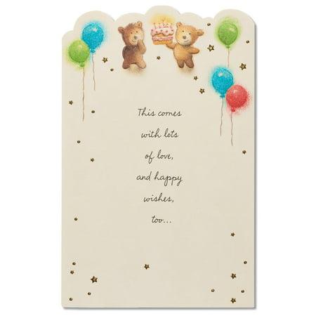 American Greetings Bears Birthday Card With Glitter Walmart