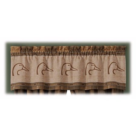 Logo Brown & Tan Plaid Window Valance, 50% Cotton & 50% Polyester By Ducks (Charles Daly Ducks Unlimited Shotgun For Sale)