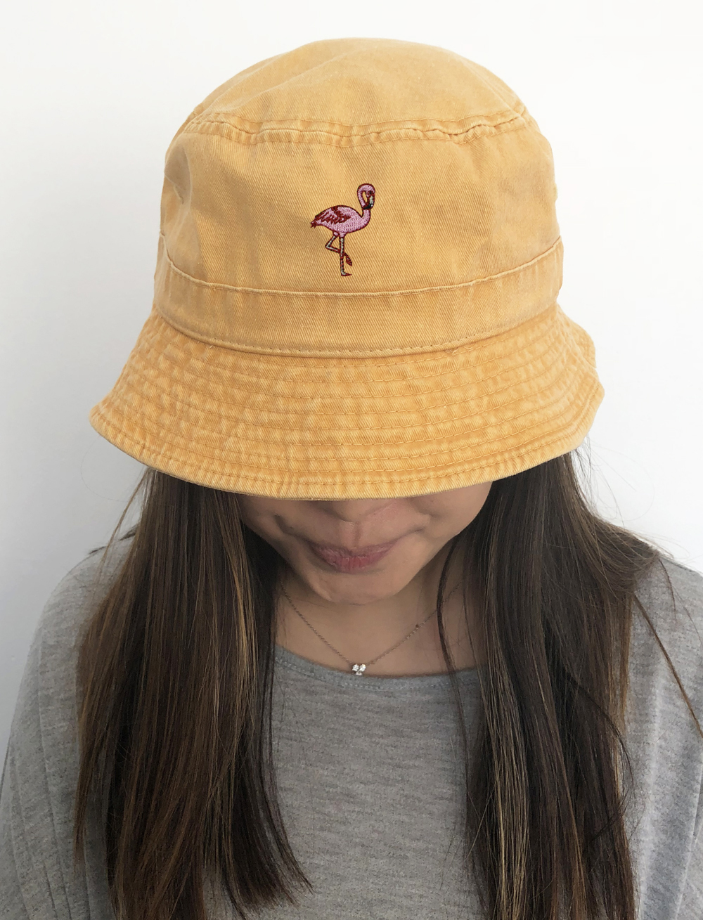 b2add15663e City Hunter Bd2020 Flamingo Washed Cotton Bucket Hats - 13 Colors (Washed  Gold) - Walmart.com