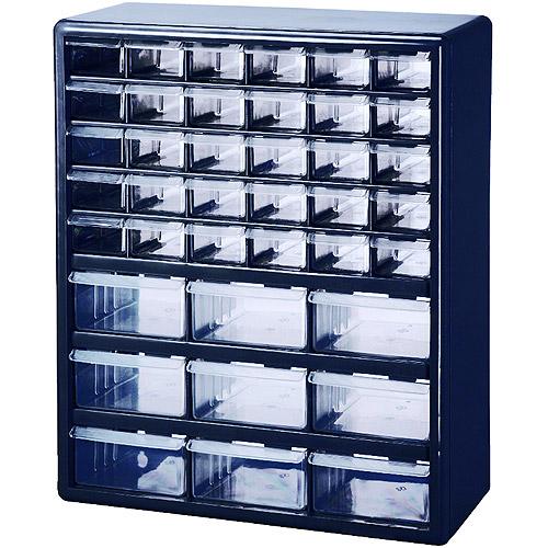 Stack On 39 Drawer Parts Organizer Blue Walmart Com