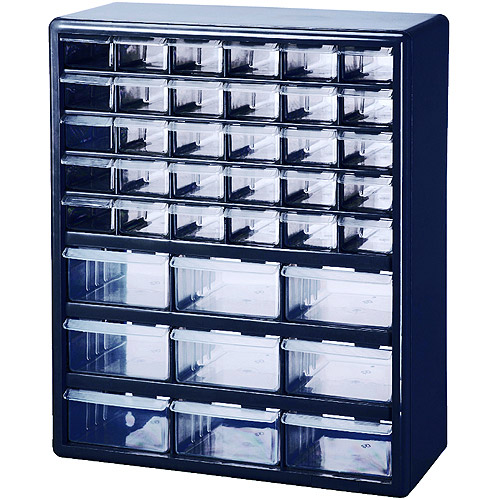 Stack-On 39-Drawer Parts Organizer, Blue