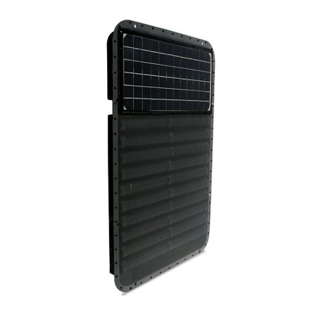 Solar infra systems the sun 800 btu wall mounted solar for In wall heating system