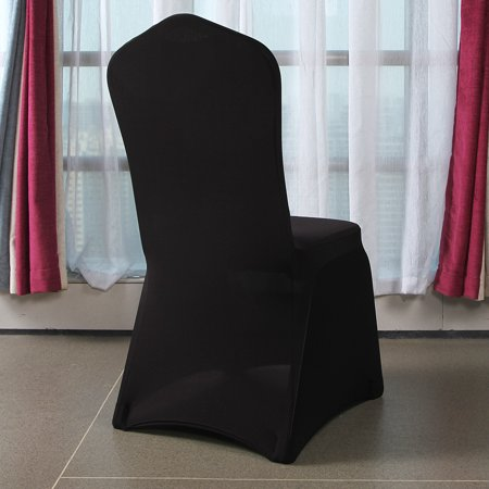 Strange Zimtown 50Pcs Spandex Chair Covers Arched Flat Front For Wedding Party Decorations Black Creativecarmelina Interior Chair Design Creativecarmelinacom