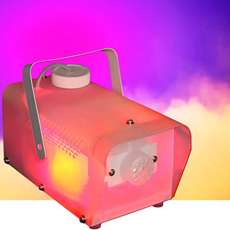 Fog Machine with Multi Colored LED Lights - 400 Watts - LED RGB Lights - DJ Party Lighting and Fog - Fog Machine Party