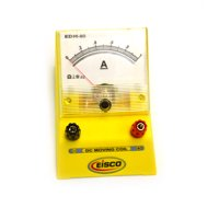 Eisco Labs Analog Ammeter, DC Current Meter, 0 - 1 Amp, 0.02A resolution