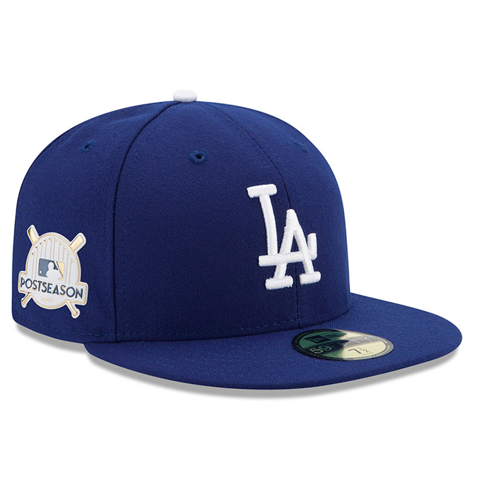 Los Angeles Dodgers New Era 2017 Postseason Side Patch 59FIFTY Fitted Hat - Royal