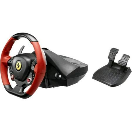 Thrustmaster Ferrari 458 Spider Racing Wheel - Cable - Xbox One - (Refurbished) (Xbox 360 Wheel Ferrari)