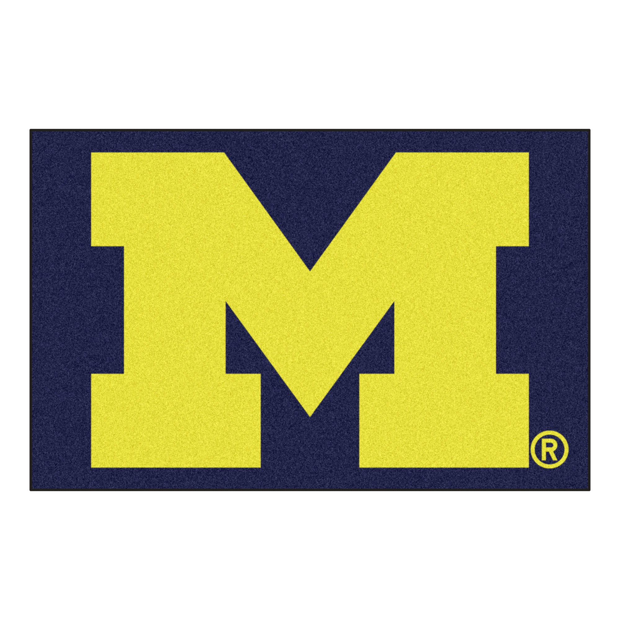 NCAA University of Michigan Wolverines Starter Mat Rectangular Area Rug