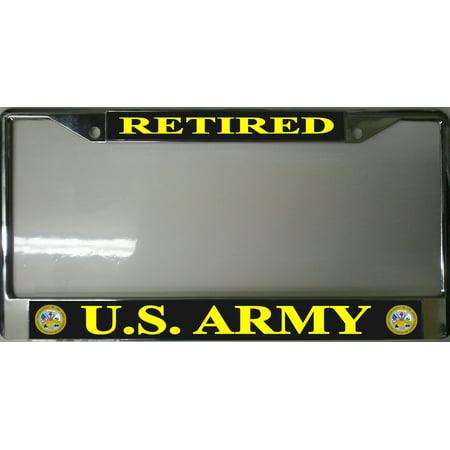 U.S. Army Retired Photo License Plate Frame