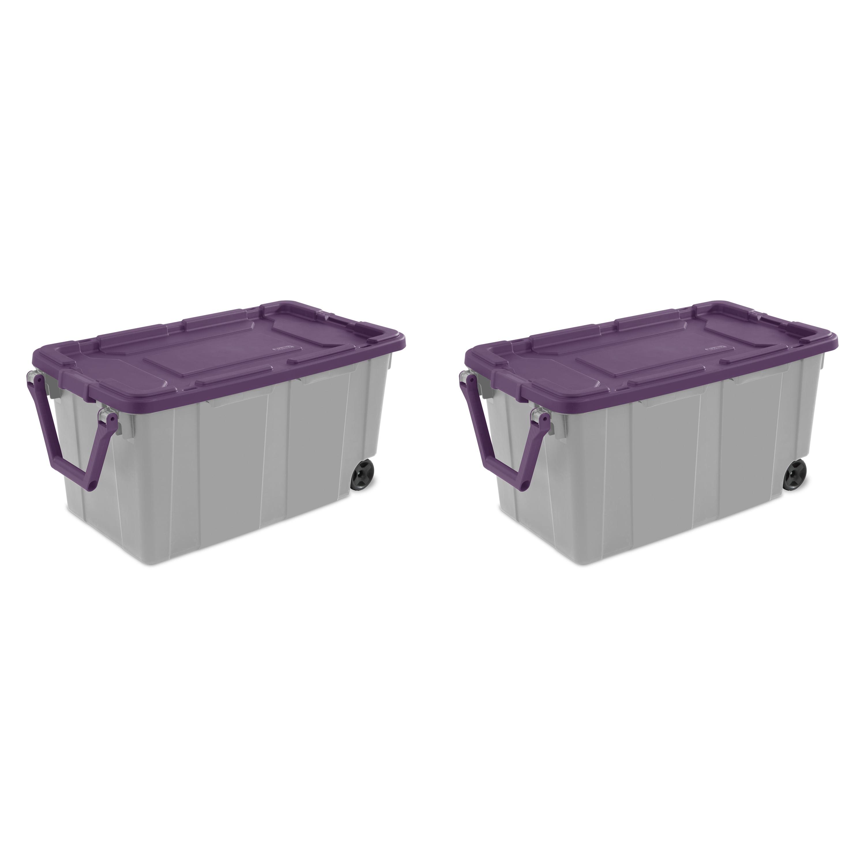 Sterilite 40 Gal. Wheeled Industrial Tote Moda Purple Case of 2 - Walmart.com