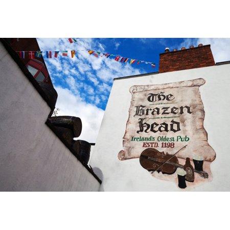 - Brazen Head pub sign Bridge Street Dublin City Ireland Canvas Art - Panoramic Images (27 x 9)