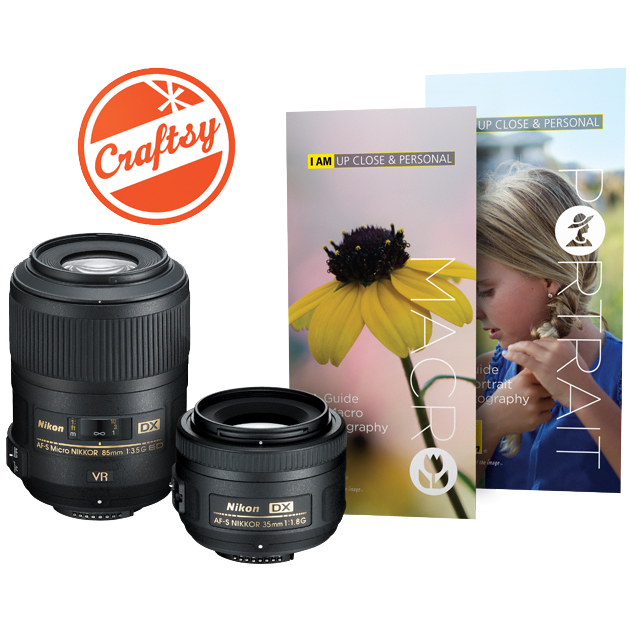 Nikon 35mm f/1.8 & 85mm f/3.5 G VR AF-S DX ED Micro-Nikkor Lens Macro & Portrait Kit with A Guide to Macro Photography, A Guide to Portrait Photography & Online Photo Class