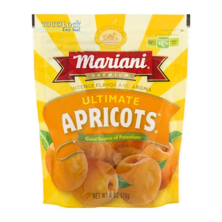 (3 Pack) Mariani Ultimate Apricots, 6 oz Apricot Snack Pack