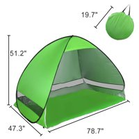 Portable Pop Up Beach Tent Sun Shade UV 50+ Protection Canopy Outdoor Automatic Instant Tent Sun Shelters