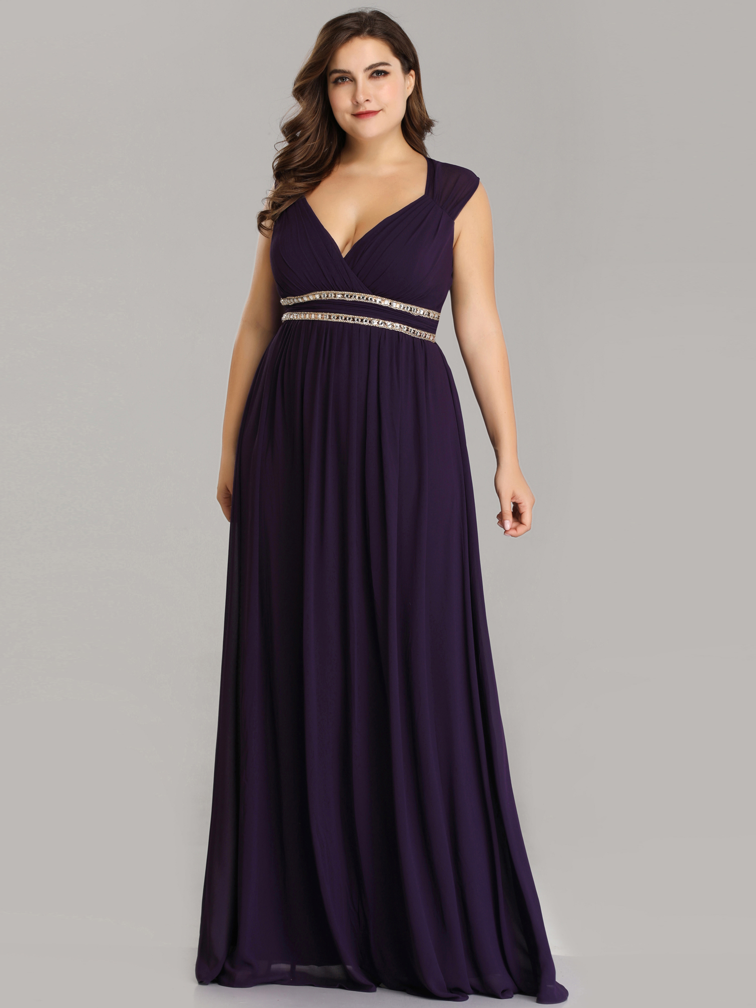 a4bbd9399f6 Ever-pretty - Ever-Pretty Women s Empire Waist Pleated Navy Blue Plus Size  Long Formal Evening Bridesmaid Party Maxi Dresses for Women 08697 US 20 ...