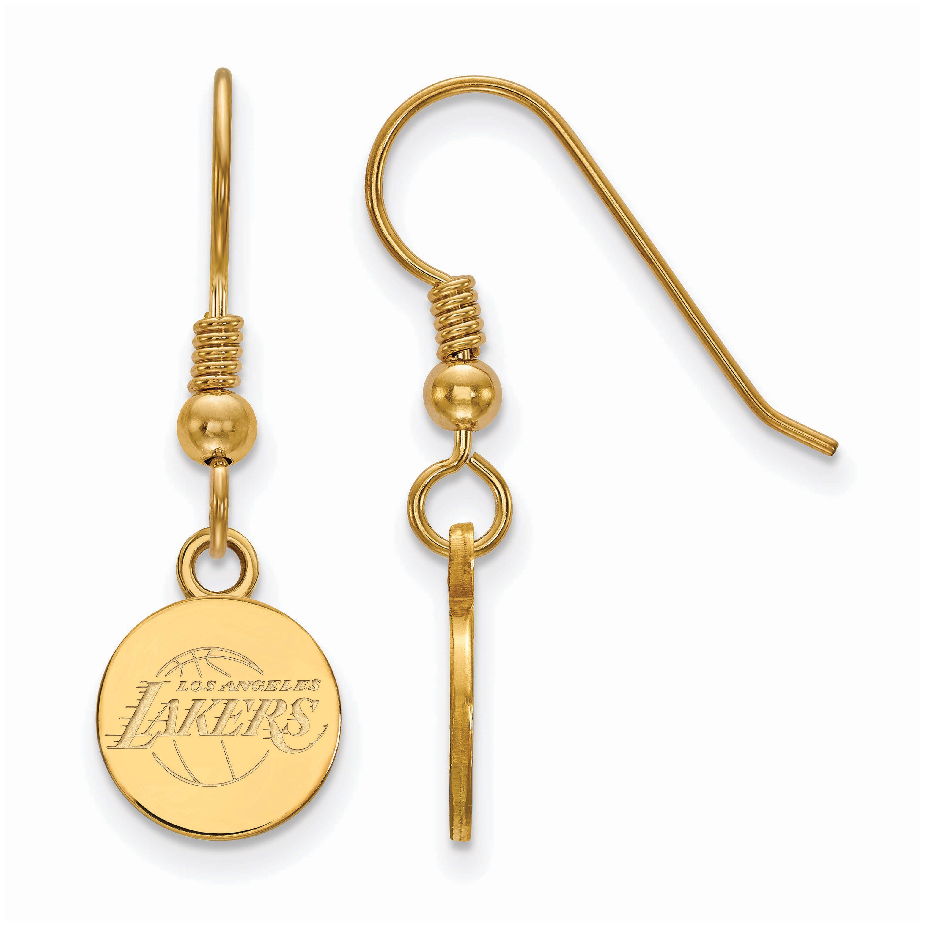 Los Angeles Lakers Women's Gold Plated XS Dangle Earrings - No Size