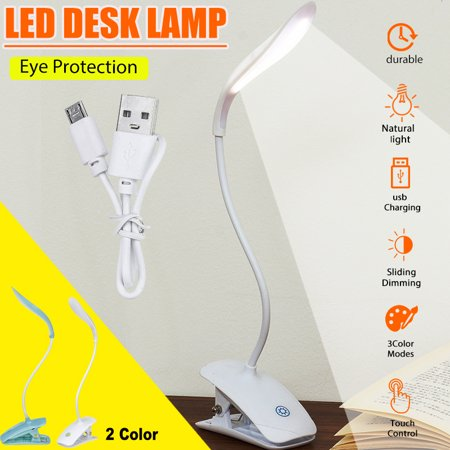 Image of Portable 14 LED Lamp Beads LED Table Lamp LED Desk Lamp 360 ° Free Bending Desk Light Reading Lamp Night Light with Touch Switch with USB Charging Cable for Reading Writing